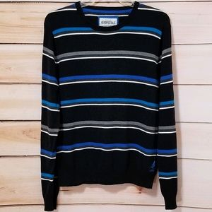 Aeropostale Striped Lightweight Crewneck Sweater